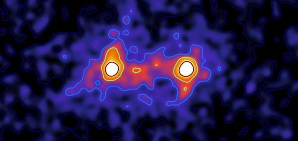 Image confirms galaxies are connected by dark matter web: A new composite image captured by researchers at the University of Waterloo…