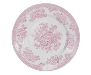 Rosa middagstallerken. Diam 25,5