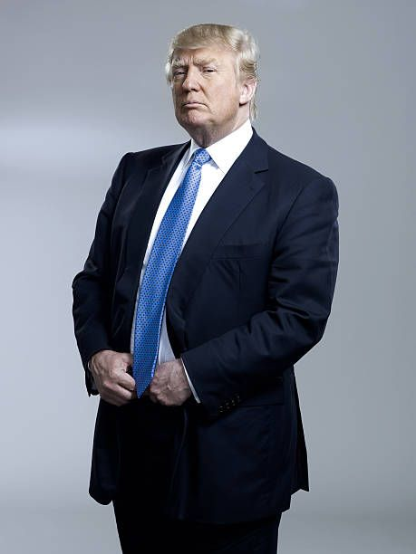 Entrepreneur Donald Trump is photographed for Bloomberg Businessweek on April 25 2011 in New York City Published Image ON EMBARGO UNTIL AUGUST 02 2011