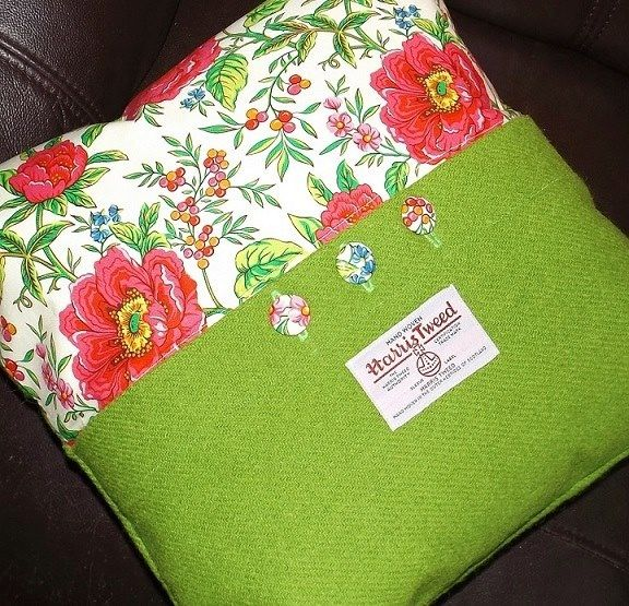 Harris tweed cushion idea