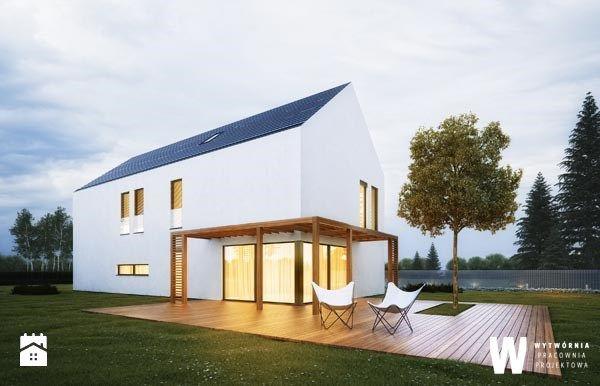 Dom jednorodzinny minimalistyczny - Domy - Styl Minimalistyczny - Wytwórnia Pracownia Projektowa