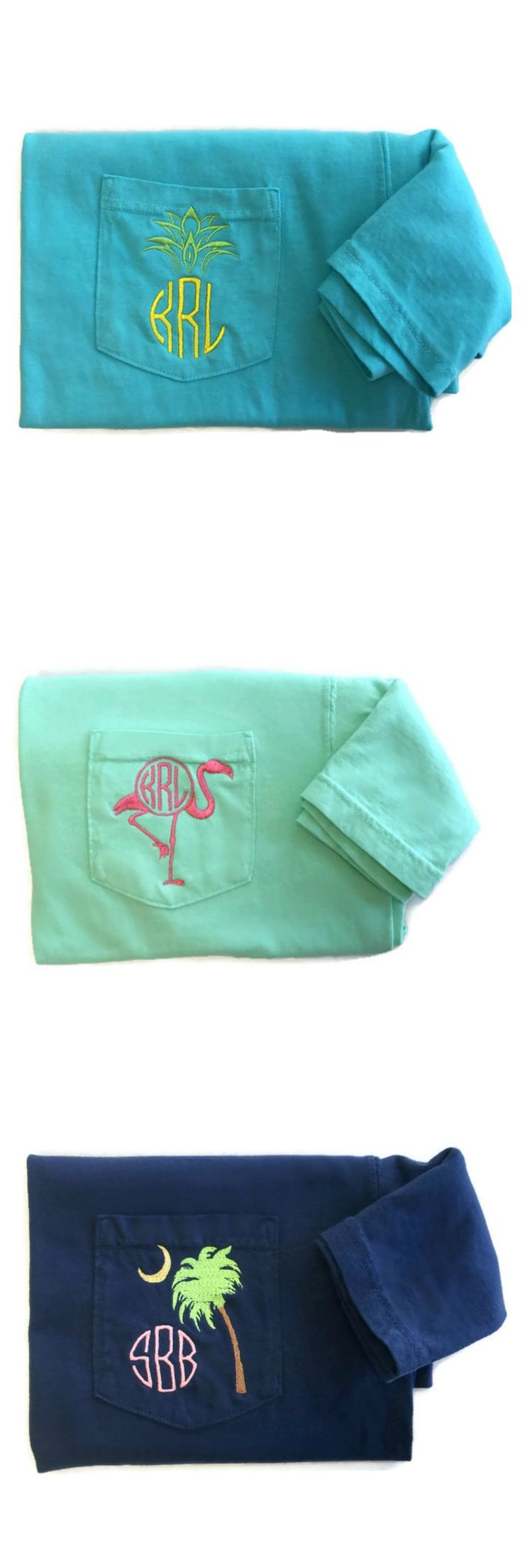 Monogrammed pocket tee summer collection by The Initialed Life. Re-pin if you like and/or click to view more of our shirts!