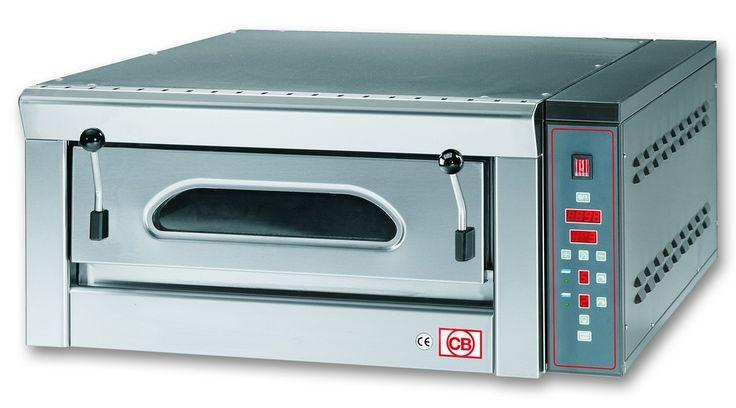 FP4E Forno pizza elettrico con scheda elettronica con refrattario in pietra lavica. www.cb-italy.com