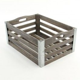 """13.25"""" x 8.5"""" Wooden Crate"""