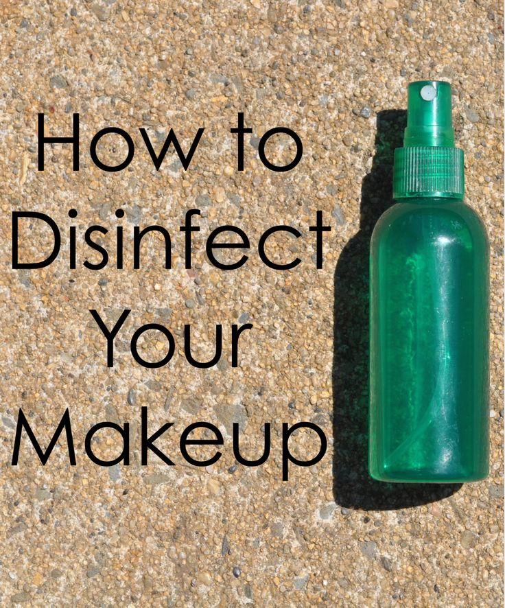 how to disinfect your make up brushes