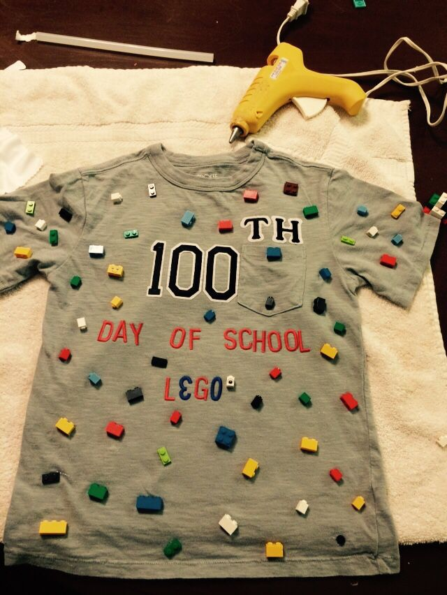 Made my son his 100th day of school tshirt.. Lego!!