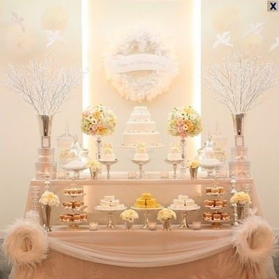 angel theme baby shower baby showers pinterest tables angel