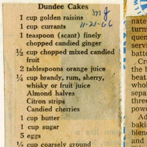 Dundee Cake :: Historic Recipe
