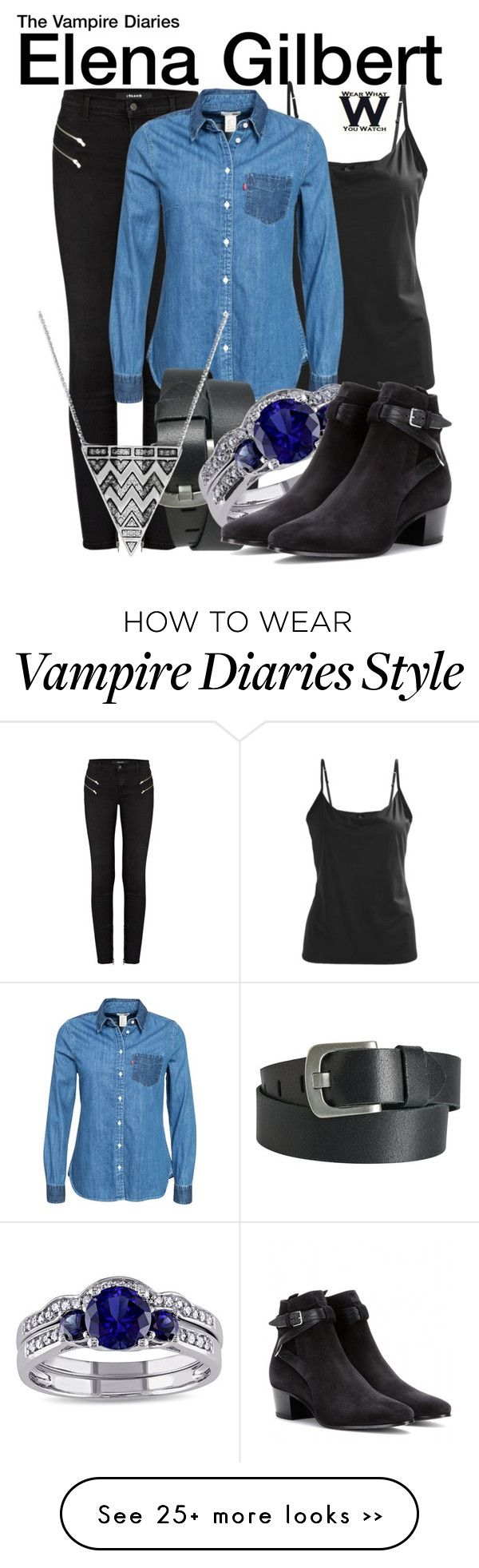 """""""The Vampire Diaries"""" by wearwhatyouwatch on Polyvore"""