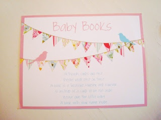 Although cards are nice  they're read once or twice  A book is a treasure forever and ever  so instead of a card to be put aside  please give the little baby  a book with your name inside