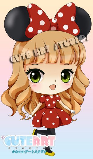 Girl in Minnie Mouse costume by crowndolls on deviantART