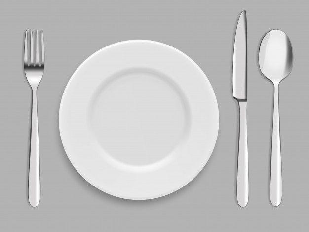 Platos Y Cubiertos Tenedor Cuchara Y Cuchillo Vector Premium Freepik Vector Comida Cocina Tabla Grafico Platos Y Cubiertos Platos Cucharas