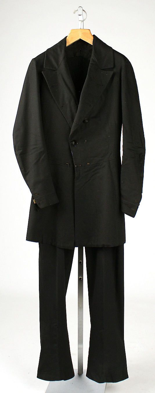 Suit, Date: ca. 1850 Culture: American (probably) Medium: wool Metropolitan Museum of Art Accession Number: 1982.82.25a, b