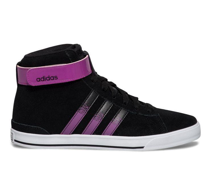 Basket montante noire Adidas femme