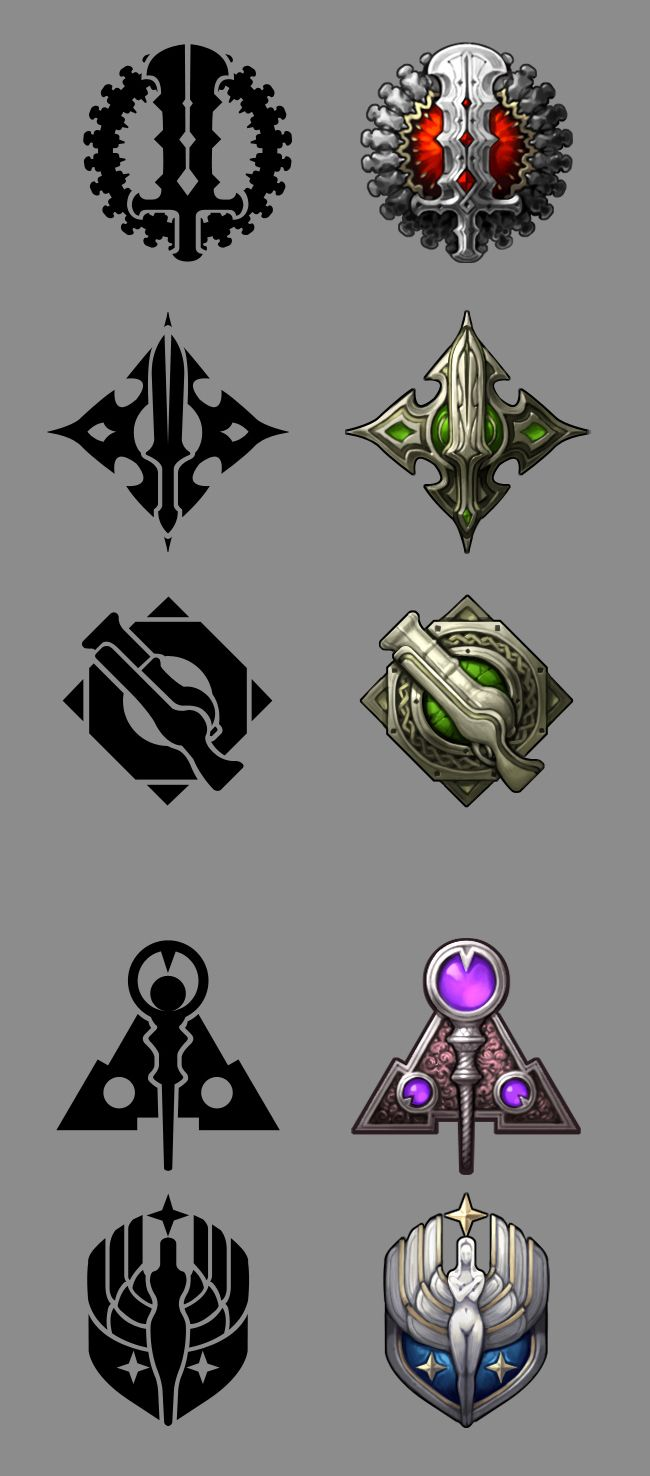 Dungeon Striker Class Emblems - Dungeon Striker Universe