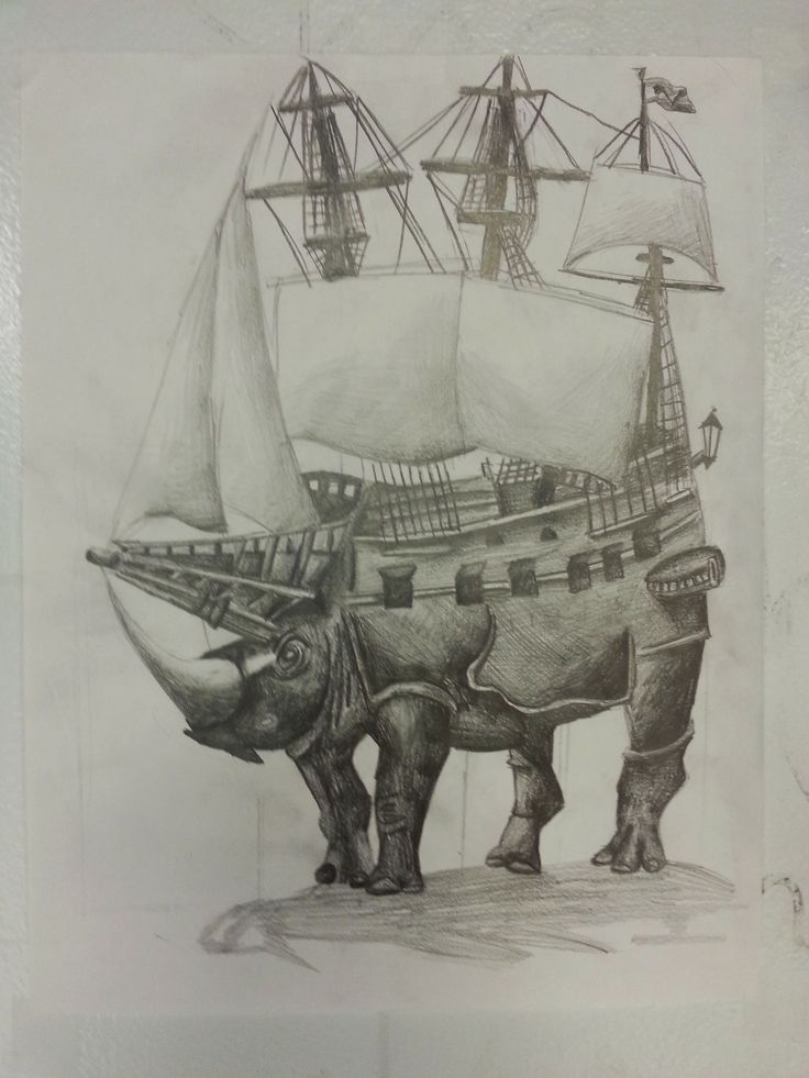 Pencil drawing by 11 year old student in Winged Canvas' Right Brain Lab.