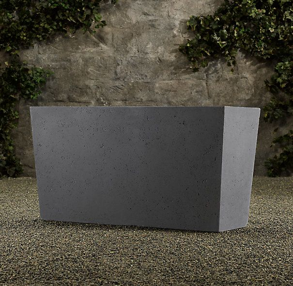Stone Garden Planters And Troughs 7 best cafe planters images on pinterest herb garden planter rhs weathered cast stone tapered trough planterthe look of timeworn stone belies the more manageable weight of this versatile planter perfect for porch workwithnaturefo