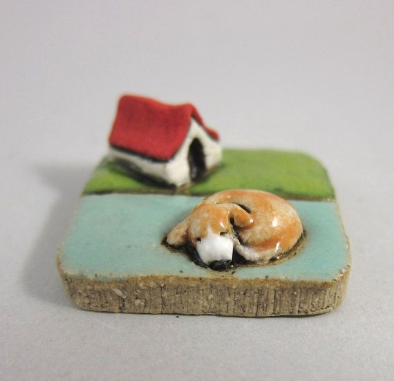 MyLand+++Snoozy+Suzy++Collectible+3x3+cm+or+1.2x1.2+in.+by+elukka