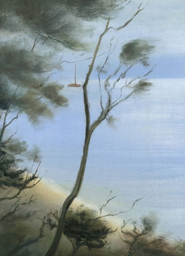 VIOLA DOMINELLO  'Foreshore, Berowra Waters'   2011  oil on canvas  40.5 x 30 cm