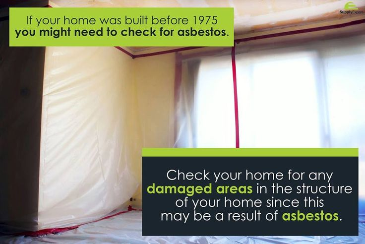 Check your home for any damaged areas in the structure of your home since this may be a result of asbestos << #Supply Expert