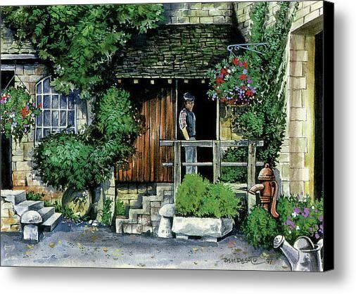 The Cottage Canvas Print / Canvas Art By Ben De Soto