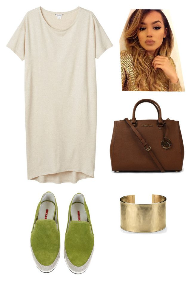Simple Day by jordan-armstrong-pitt on Polyvore featuring polyvore, fashion, style, Monki, Michael Kors, Blue Nile, Prada and clothing