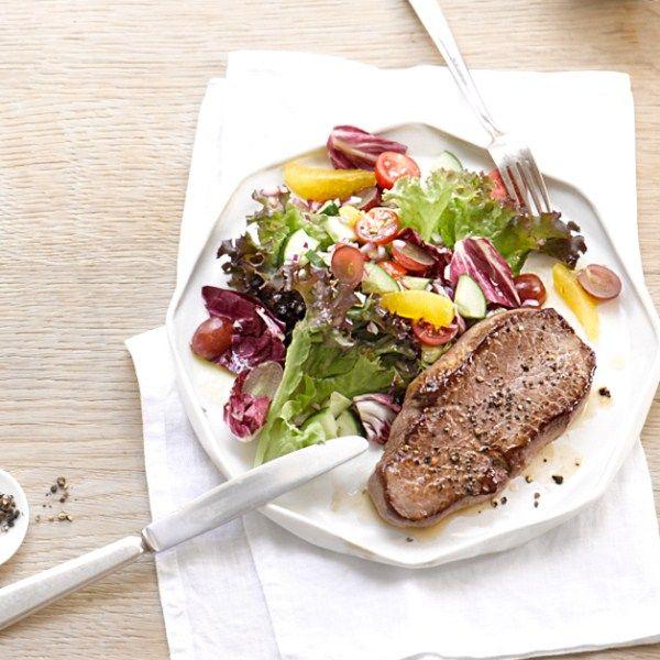 Steak met salade #SnelKlaar #WeightWatchers #WWrecept