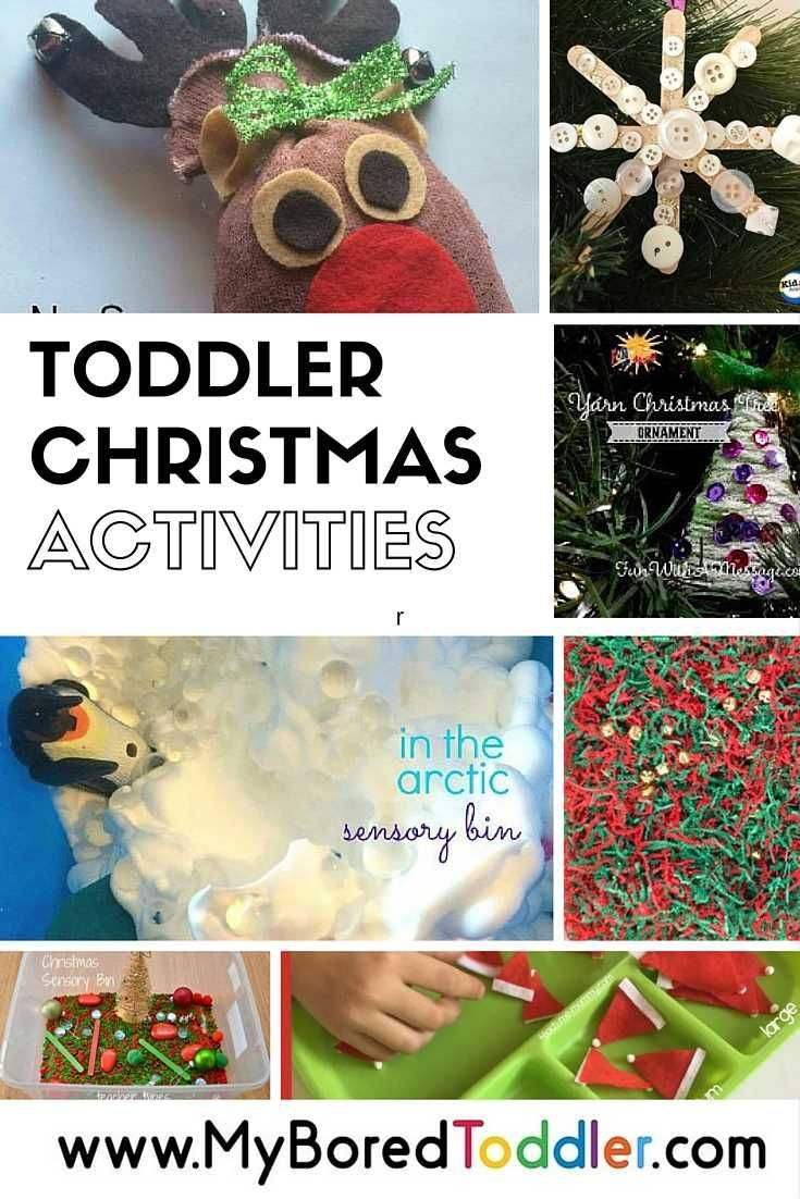 toddler christmas activities and ideas. If you are looking for Christmas crafts, Christmas sensory play and Christmas activities for toddlers, babies and preschoolers then you'll love this collection of great activities for toddlers.