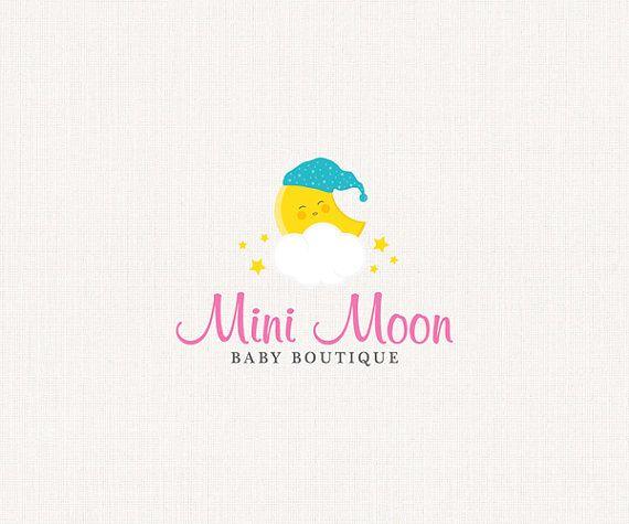 Baby Moon Premade Logo
