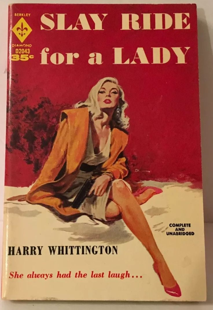 Slay Ride For A Lady. Mystery. Detective. GGA pulp