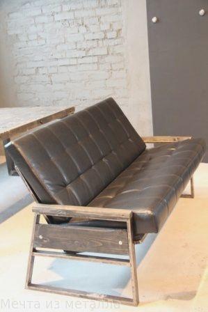 Купить деревянный диван лофт недорого