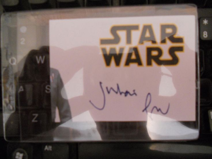 JULIAN GLOVER-GENERAL MAXIMUS VEERS  STAR WARS ACTOR- AUTOGRAPHED/SIGNED  CUT