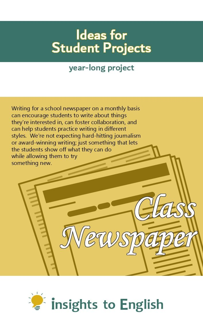 Class Newspaper Student Encouragement Writing Practice Student