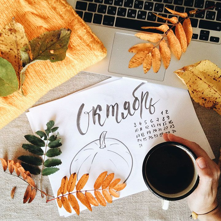 Обои ипланер наоктябрь, planner, oktober, tea, sashapanfilova