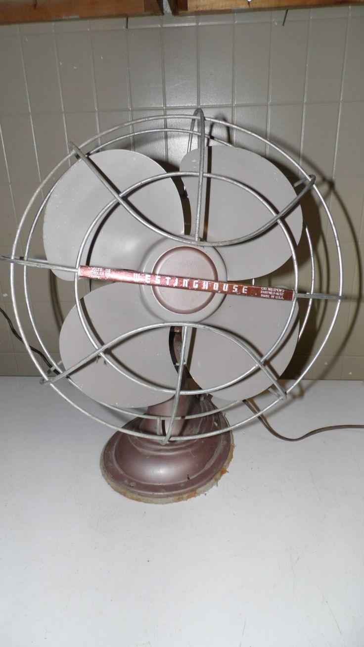Vintage Westinghouse Electric Oscillating Fan USA Lt. Lavendar/Gray Metal by FabulousFinds1 on Etsy