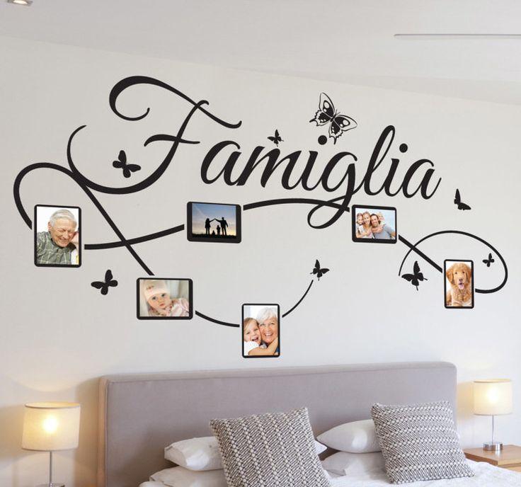 Sticker decorativo foto famiglia IT