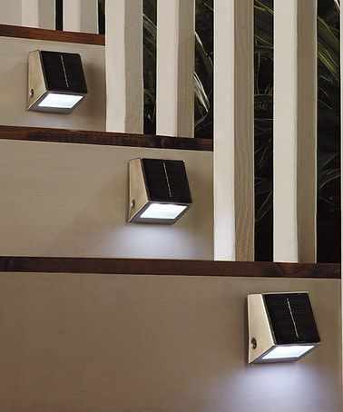 Black Solar Step Light #zulily #ad *perfect