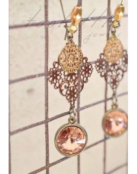 Σκουλαρίκια Pink Stones & Circles
