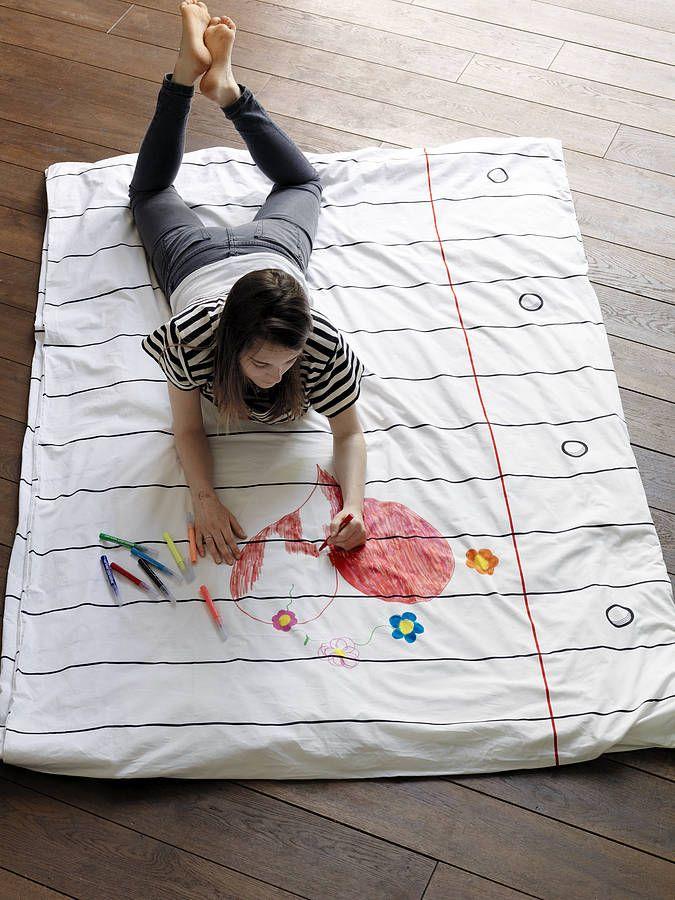 Doodle Duvet Cover: Drawings, Idea, Stuff, Markers, Doodles Duvet, Duvet Covers, Blankets, Kids, Showers Curtains