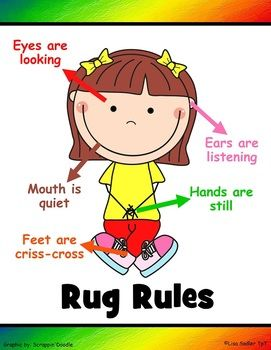 classroom rug clipart. poster for rug rules *updated classroom clipart