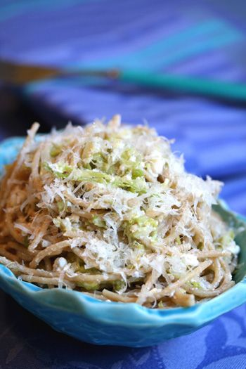 Cabbage and noodles is an Eastern European staple.  This one is high in protein with the addition of cottage cheese.  Eat this dish in late fall or winter when cabbage is prevalent.  The added fresh lemon will keep away the sniffles!