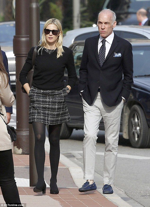 Hearing: Kelly Rutherford and her partner Tony Brand attended a hearing in Monaco on Monday as her international custody dispute over her children Hermes, nine, and Helena, six, continued