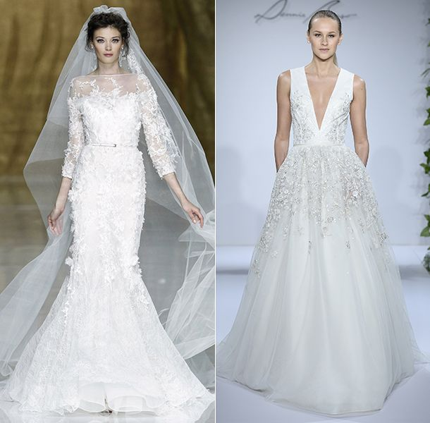 New Wedding dress trends for include long sleeves and statement ball gowns wedding dresses
