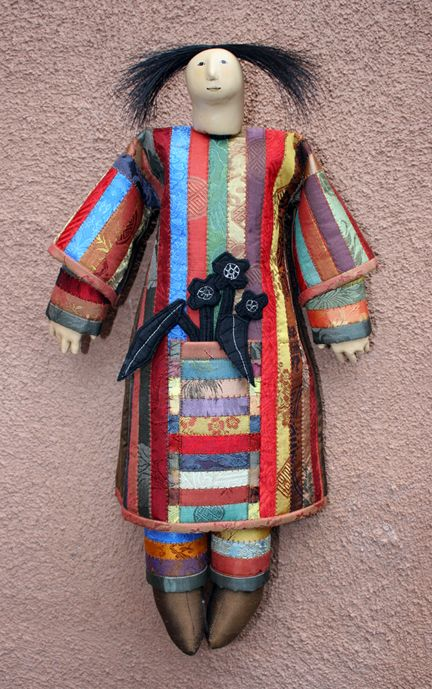 POCKET DOLL STRIPES -textile artist charla khanna