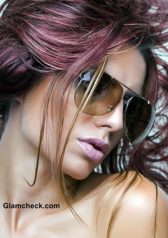 Hair Color Inspiration : How to Sport Pink and Plum Highlights (I wouldn't ever do this to my hair but I love the pics i see on Pinterest)