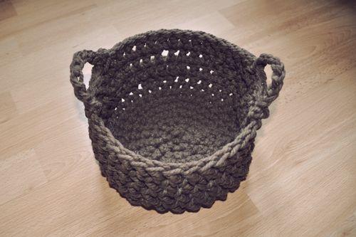 17 mejores ideas sobre cestos para beb s en pinterest - Cesta de cuerda y ganchillo ...