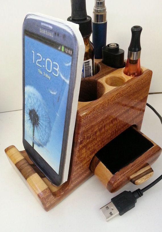 Electronic Cigarette  Ecig Vapor desktop wood  by WoodArtBoxes, $49.95