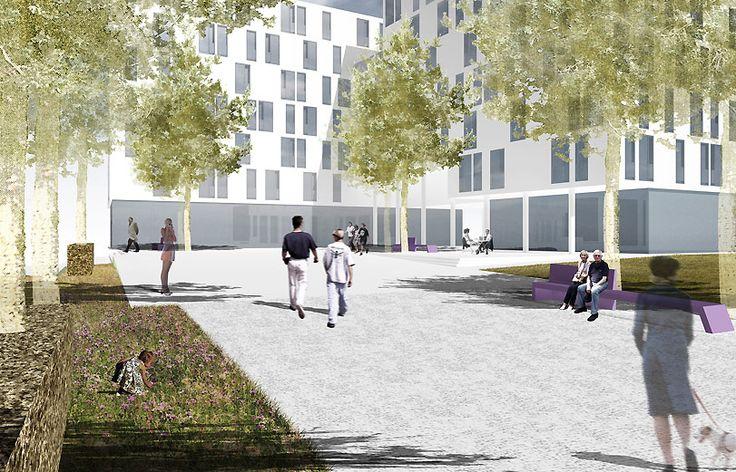 Betreutes und studentisches Wohnen Haidpark - grabner + huber landschaftsarchitekten, Freising