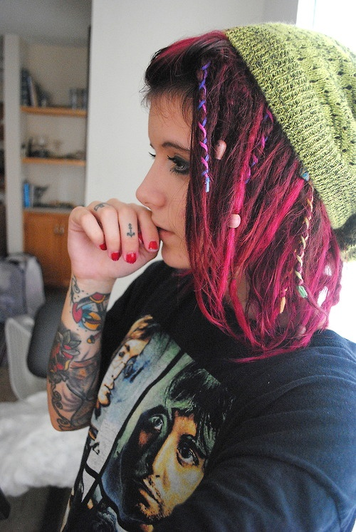 pink dreads ;]