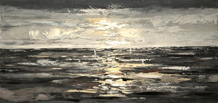 Målerikonst | Oceanly | 140x65cm via Tavlor